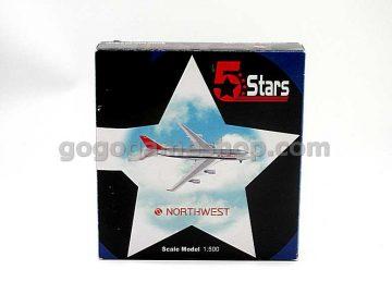 5 Stars Northwest Boeing 747-400 1:500 Scale Model