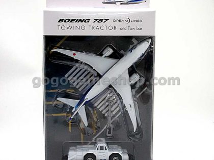 ANA Boeing 787 Dreamliner Model with Towing Tractor and Tow Bar