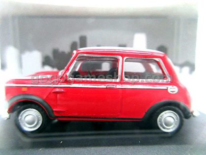 Cararama Hongwell Mini Cooper With White Stripes Hood 1:72 Diecast Model Car