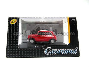 Cararama Hongwell Mini Cooper With White Stripes Hood 1:72 Diecast Model Car