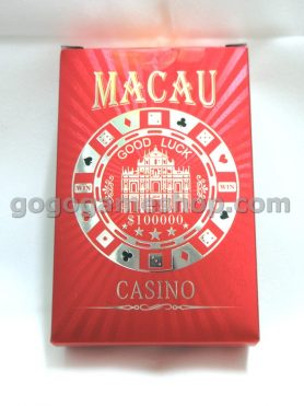 Collectible Macau Good Luck Casino Deck of Playing Cards
