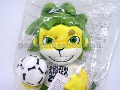 """FIFA 2010 South Africa Mascot """"Zakumi"""" Plush Doll"""