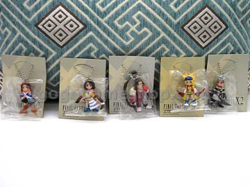 Final Fantasy X-2 Character Figures Key Chain Set of 5