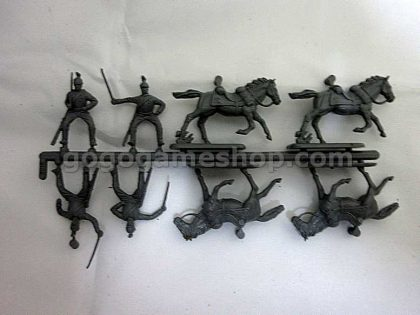 Hat #8015 Austrian Cuirassiers Mounted Figures 1/72 Scales Box Set