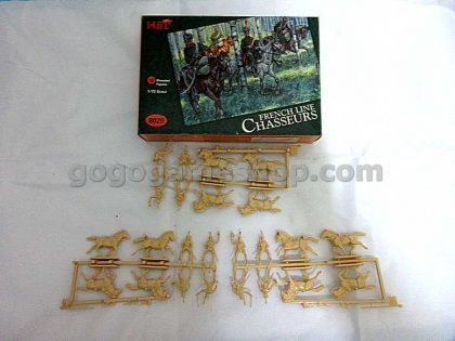 HäT #8029 French Line Chasseurs Mounted Figures 1/72 Scales Box Set