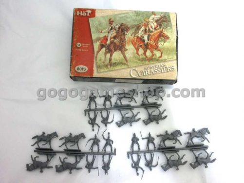 Hat Miniature Soldiers Model Set- Mounted Figures - Austrian Cuirassiers