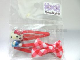 Hello Kitty Hair Clips Set of 2 (Red)