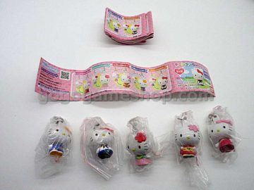 Hello Kitty Key Chain Ornaments Gashapon Toy Set of 5