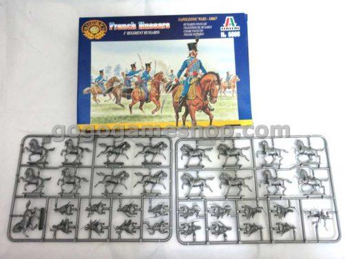 Italeri Historics Miniature Solders Model Set - French Hussars 1 Regiment Hussards