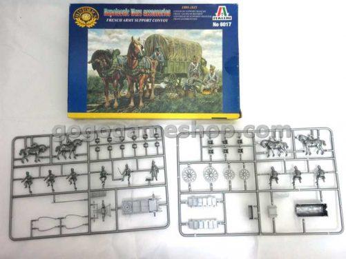 Italeri Historics Miniature Solders Model Set - Napoleonic Wars Accessories French Army Support Convoy