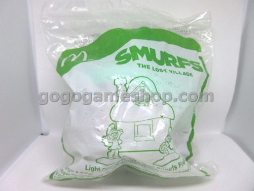 McDonalds Happy Meal Toy Smurfs The Lost Village - Light Green House with Smurfs Friends