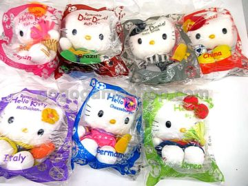 McDonald's 2002 World Cup Hello Kitty Plush Dolls
