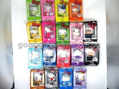 McDonald's Hello Kitty Kitty@Messenger Plush Ornaments Complete Set of 18