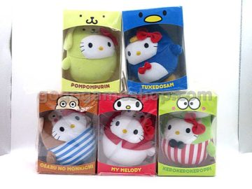 McDonald's Hello Kitty KT Bubbly Day Plush Dolls Set of 5