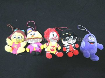 McDonald's McDonaldland Characters Plush Doll Ornaments