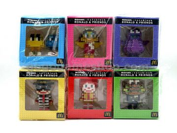 McDonald's x Nanoblock Ronald & Friends Miniature Figures Set of 6