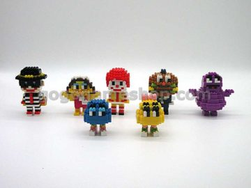 McDonald's x Nanoblock Ronald & Friends Set of 7