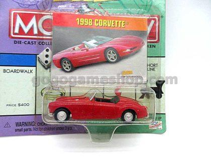 Playing Mantis Johnny Lightning/Monopoly 1998 Corvette 1/64 Scale Die Cast Miniature Car Model