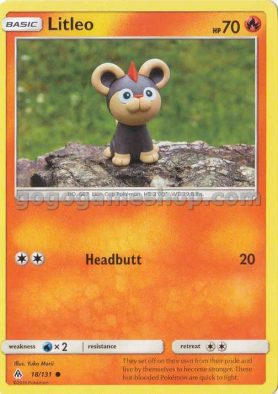 Pokemon Sun & Moon Forbidden Light Trading Game Card