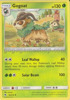 Pokemon Sun & Moon Lost Thunder Trading Game Card