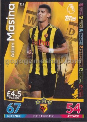 Topps Match Attax Premier League Trading Card - Adam Masina