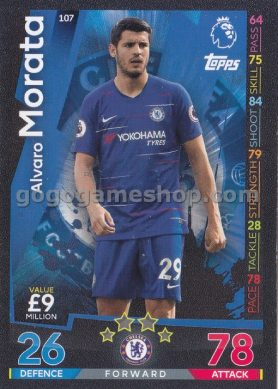 Topps Match Attax Premier League Trading Card - Alvaro Morata