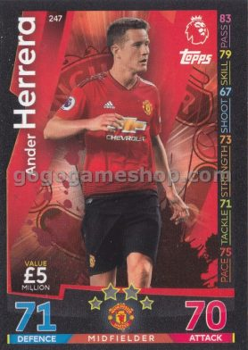 Topps Match Attax Premier League Trading Card - Ander Herrera