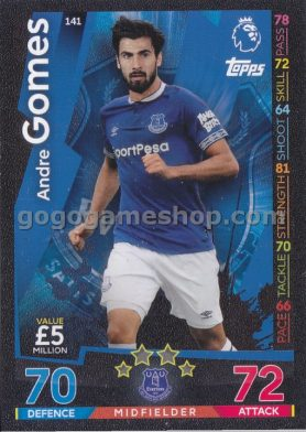 Topps Match Attax Premier League Trading Card - Andre Gomes