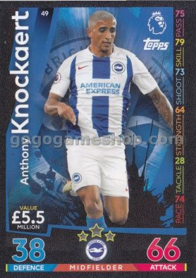 Topps Match Attax Premier League Trading Card - Anthony Knockaert