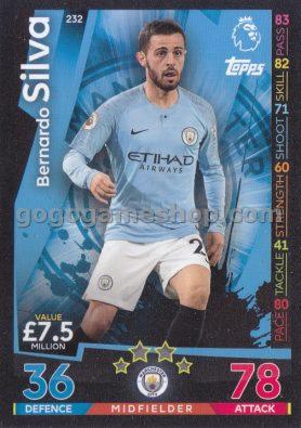 Topps Match Attax Premier League Trading Card - Bernardo Silva