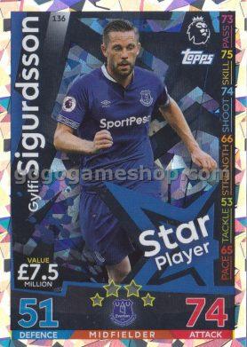 Topps Match Attax Premier League Trading Card - Gylfi Sigurdsson Silver Card