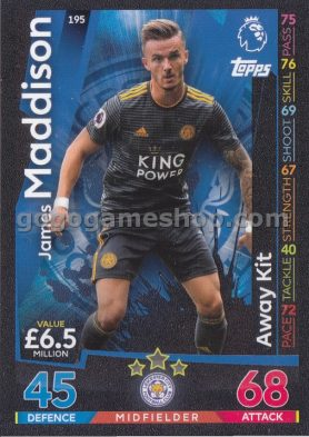Topps Match Attax Premier League Trading Card - James Maddison