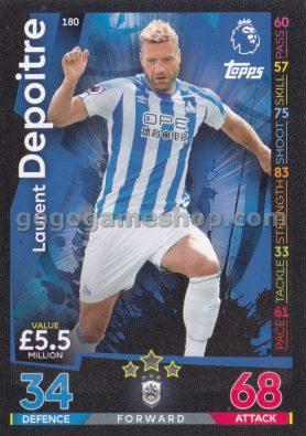 Topps Match Attax Premier League Trading Card - Laurent Depoitre
