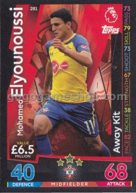 Topps Match Attax Premier League Trading Card - Mohamed Elyounoussi