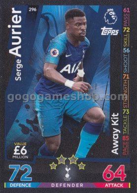 Topps Match Attax Premier League Trading Card - Serge Aurier