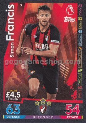 Topps Match Attax Premier League Trading Card - Simon Francis