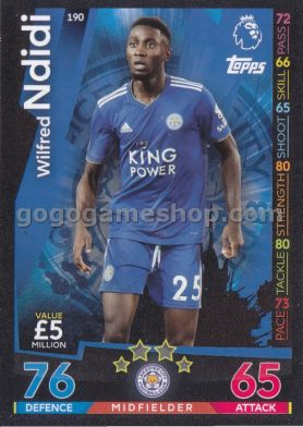 Topps Match Attax Premier League Trading Card - Wilfred Ndidi