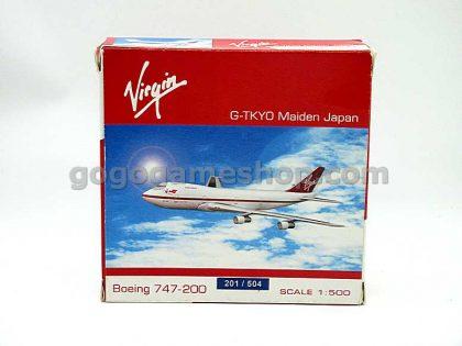 "Virgin Atlantic B747-200 G-TKYO ""Maiden Japan"" 1:500 Scale Model"